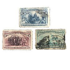 UNITED STATES, SCOTT # 230-232(3), 1893 COLOMBIAN EXPOSITION ISSUE USED