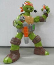TMNT Teenage Mutant Nina Turtles Michelangelo Talking Figure Mikey 2014 Viacom