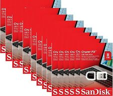 Lot 50  x SanDisk 8GB USB SD CZ33 Cruzer Fit 8G USB 2.0 Flash Drive SDCZ33-008G