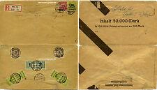 Reco Brief MiF Übergangsfrankatur Inflation Infla Berlin innerorts 1923