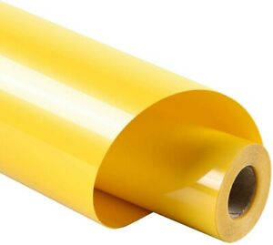 """guangyintong Heat Transfer Vinyl for T-Shirts 12"""" x 8ft Roll Glossy (Yellow k3)"""