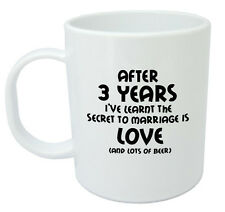 After 3 Years Ive Learnt Mug, 3rd Wedding Anniversary Gifts For Men Him Husband