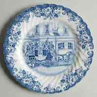 Johnson Brothers Coaching Scenes Blue Salad Plate 274843