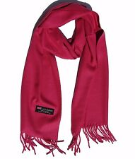 New Fashion 100%Cashmere Scarf Solid Hot Pink Scotland Made Warm Wool Wrap #W204