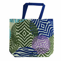 Estee Lauder Large Purple Blue And Green Printed Tote Bag New