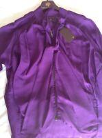Beautiful New Mulberry Oversized Blouse In Purple Silk Chiffon 38/8
