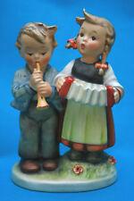 Vntg Hummel Goebel 1950's Tmk 2 Boy w/ Horn Girl w/ Accordion