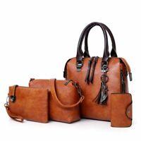 4pcs/Set Ladies Handbags Female PU Bags Leather Shoulder Messenger Women Bags