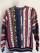 Vtg 90s Cotton Traders Coogi Style Sweater L Cosby Biggie Smalls