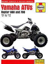 Haynes Manual 2977 - Yamaha Raptor YFM660 & YFM700 ATVs (01 - 12) service/repair