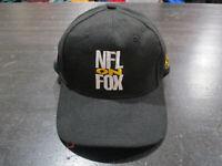 VINTAGE NFL On Fox Hat Cap Black White Snap Back Football Adjustable Mens 90s