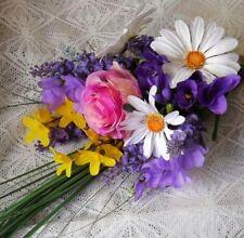 Handmade Mixed Bouquet Silk Wedding Flowers, Petals & Garlands