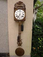 Beautiful, old Comtoise__Brass __ Pendulum Clock __ Um 1890__ C. Lafay _