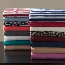 Microfleece Soft Sheet Set Colors Twin Bed Cozy Micro Fleece