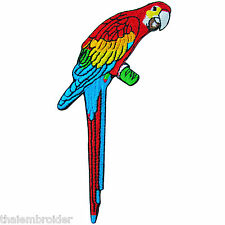 Parrot Bird Cute Pretty Zoo Colorful Rainbow Biker Hippie Iron-On Patches #A015