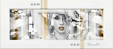 Faveron: Glamourous Modell-Rahmen 52x117 Wandbild Mode Fashion Style Eurographic