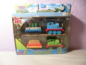 Take-n-Play Diecast Talking Thomas & Percy Hard At Work 2015 New Sealed Package