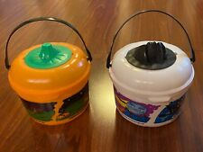 McDonald's 1999 Halloween Happy Meal Bucket Pail 2 White Orange Cookie Cutters