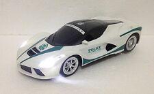 FERRARI ITALIA POLICE LED CAR RADIO REMOTE CONTROL1:20 FAST DRIFTING-RECHARGE