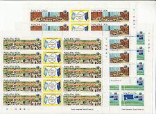 Stamps Nauru 1980 Un decolonisation Declaration set of 3 in complete sheets, Muh