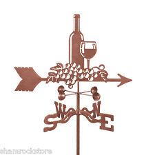 Wine Bottle & Grapes Weathervane, Weather Vane - Complete with Choice of Mount