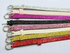 20 Glitter PU leather Bracelet Wristband Fit 8mm DIY Slide Charm