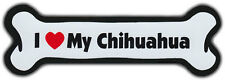 Dog Bone Magnet: I LOVE MY CHIHUAHUA | Dogs Doggy Puppy | Car Automobile
