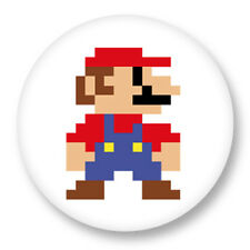 "Pin Button Badge Ø25mm 1"" Super Mario Bros Retro Game Nintendo"