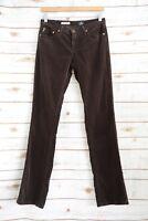 London Jean - Dark Brown skinny flare corduroy pants, size 0