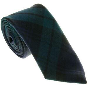 100% Wool Traditional Scottish Tartan Neck Tie - Blackwatch