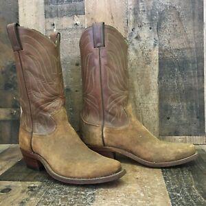 Justin 1528 Vtg Suede Cowboy Boots Mens 9.5 D