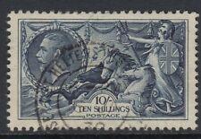 GB KGV 1934  Re-engraved Seahorse. 10s Indigo. SG452. Fine Used cds. Cat £80.