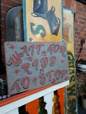 Fairground Funfair sign Circus dodgem waltzer GHOST TRAIN HAUNTED HOUSE RIDE