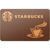 Starbucks $50 Gift Card for Only $46.00! Free Shipping, Pre-Owned Gift Card