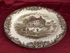 "Staffordshire's ""Heritage Hall"" Pennsylvania Fieldstone 12 x 9 1/2"" Oval Platter"