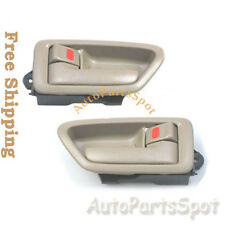 E1D36 Inside Door Handle Front Rear Left Right 2PCS Tan For 97-01 Toyota Camry