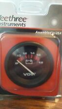New Veethree Instruments 57901E Voltmeter 8-18V Marine Amega Domed