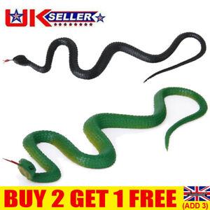 Realistic Soft Rubber Fake Snake Toy Garden Props Joke Prank Gift Halloween UK