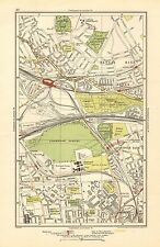 1923 London Street Map-kensal aumento, Kensal Green, ajenjo Scrubs, harlesden,