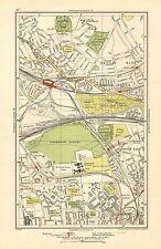 1923 LONDON STREET MAP - KENSAL RISE, KENSAL GREEN, WORMWOOD SCRUBS, HARLESDEN,