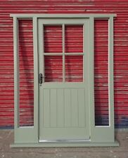Wooden Hardwood Front Door + Sidelights Cottage Style Made to measure! Bespoke!