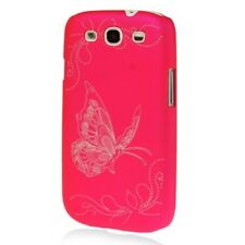 Hülle f Samsung GALAXY S3 neo Schutz Case Tasche Blumen Schmetterling pink