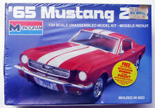 1985 MONOGRAM 1965 FORD MUSTANG 2 + 2 FASTBACK 289 PLASTIC CAR MODEL 1/24 SEALED