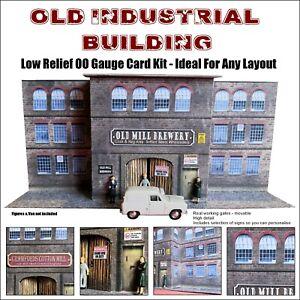 Old Industrial Building OO Gauge Model Railway Building Low Relief Card Kit
