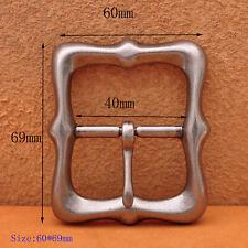 Buckle Fits 40mm Diy Leathercraft Belts Solid Antique Silver Center Bar Pin Belt