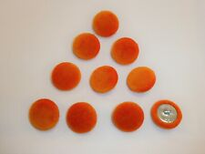 20 x 12mm Orange Heart Shaped Buttons #906