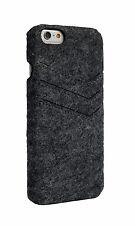 iPhone 6 Felt slim case dark gray color with 3 cards pocket