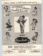 1950 PAPER AD Vogue Dolls Miss 2000 1900 1910 1920 1940 1950 Century Of Progress