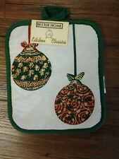 Christmas Tree Ornament Cotton Potholder Kitchen Holiday Home Decor NWT