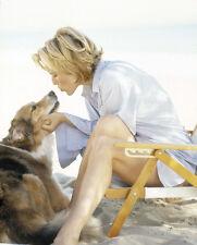 Tea Leoni UNSIGNED photo - E1699 - With her dog!!!!